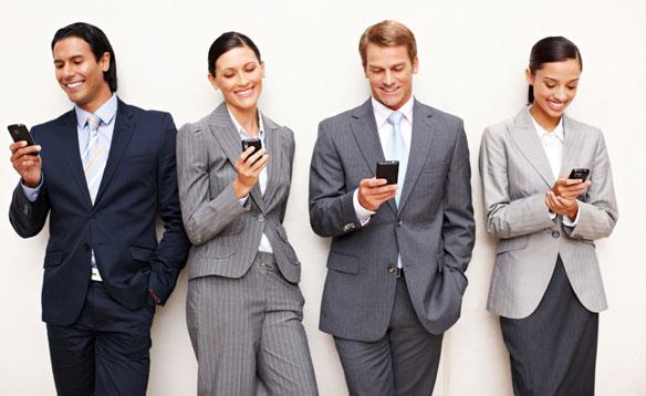 Smartphone em todos os lugares